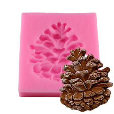 Pine Cone Nuts Shape Silica gel Moulds Fondant Cake Silicone Chocolate Mold Tool
