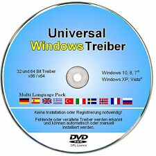 Windows 7 Treiber CD/DVD für Notebook & PC - 32 + 64 Bit