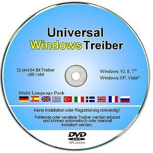 Windows Treiber DVD für Notebook & PC, Universal Treiber für Windows XP bis 10