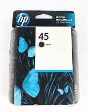 HP 45 Black Ink Cartridge 51645A New Genuine Factory Sealed Box - Ships Fast!