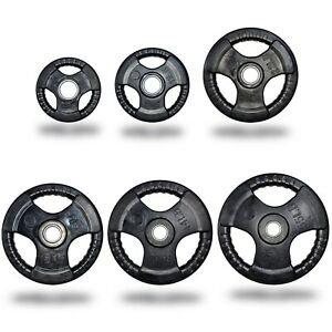 """2"""" Tri-Grip Rubber Coated Weight Plate 2.5 - 25kg"""