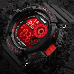 SKMEI Men's Army SHOCK Sport Quartz Wrist Date Digital Watch Waterproof Military