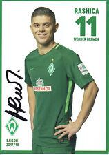Autogramm - Milot Rashica (Werder Bremen) - 2017/2018 - Neu in Winterpause