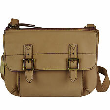 FOSSIL Leder Handtasche Schultertasche Damentasche Umhängetasche TATE TOP ZIP