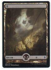 MTG Japanese Foil Swamp Full Art #261 Battle For Zendikar SP