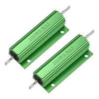 2 Pcs Aluminum Case Resistor 100W 0.3Ohm Wirewound for LED Replacement Converter
