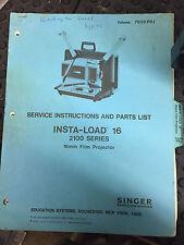 Service Instructions And Parts List Insta-Load 16 2100 Series Vol 7609 Prj
