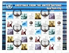 United Nations S30v2 NY 2009 Dom Rate 44c Napex Expo Personalized Sheet FDC