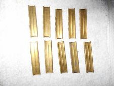 10 8mm mauser WW2 german K98 rifle parts 5 round stripper clips brass w spring