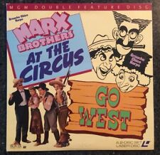 MARX BROS. DOUBLE - AT THE CIRCUS (1939) / GO WEST (1940) Laser Disc