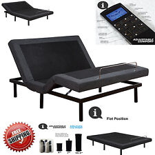 Adjustable Bed Base With USB Port Massage Wireless Remote Control Queen Size NEW