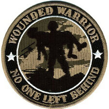 Wounded Warrior No One Left Behind Round Patch