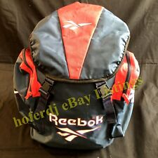 Vintage Reebok Sports Backpack Drawstring Top w/Cover Three 3 Compartment Buckle