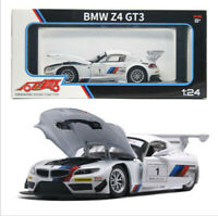 1:24 BMW Z4 GT3 Cars Model Alloy Sound Light Pull Back Toys Gifts Simulation Kid