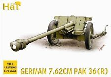 Plastic Toy Soldiers HAT 1/72 German 7.62cm PaK 36(R) Gun (4) 8156