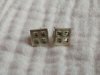 Charles Rennie Mackintosh Stud Earrings Ladies Gift in vgc silver Christmas