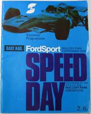 Mallory Fordsport Day 1st Sep 1969 Racing Official Programme