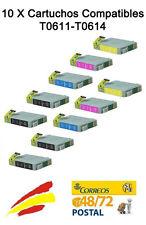 10 tinta COMPATIBLES NON-OEM para usar en Epson DX4200 DX4250 DX4800 DX4850