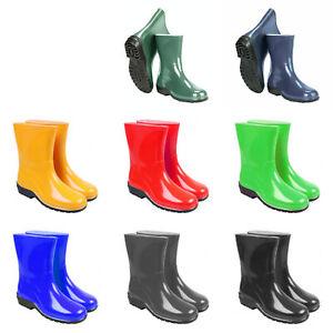 Ladies Womens Wellies Wellington Boots Rainy Boots Waterproof Durable Gardening