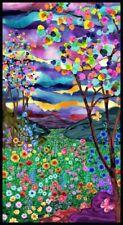 "Landscape Flower Chromaview Digital-24"" FabricPanel 9724P-66  Blank Quilting OBW"