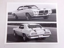 1969 Pontiac Firebird Trans Am Ram Air 400 Original Press Kit Photo Muscle Car
