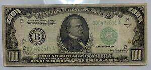 Fabulous New York 1934 A $1000 ONE THOUSAND DOLLAR BILL 500 Fr. 2211 B00422511 A