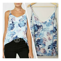 [ DECJUBA ] Womens Floral / cami Blouse Top | Size AU 16 or US 12