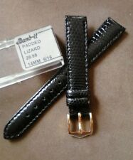 Quality Ladies NOS Band-It 14R Black Genuine Lizard Padded Stitched Watch Band