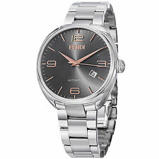Fendi Men's Fendimatic Black Dial Stainless Steel Automatic Watch F201016200
