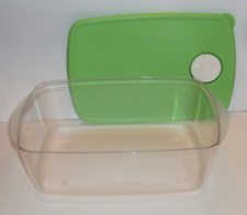 Tupperware Rock N Serve Large Rectangle Deep 3 3/4 Quart Microwave Bowl Clear an