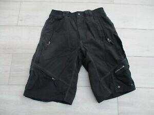 Endura Mens Hummvee Baggy Cycling Bike Shorts L with Pockets Black