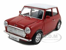1969 MINI COOPER RED 1:24 DIECAST MODEL CAR BY BBURAGO 22011
