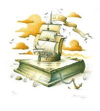 Exlibris Etching Bookmark: Jelen
