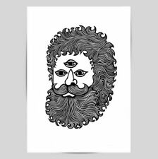 Black Linocut Art Prints
