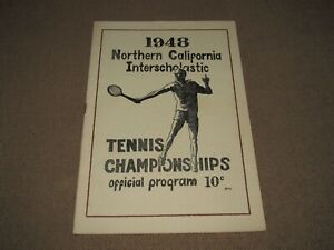 Northern California Interscholastic Tennis Championships 1948 FREE US SHIP