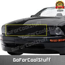 For 2005-09 Ford Mustang GT V8 (Logo Covered) Upper (Black) Billet Grille Insert
