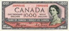 Canada, 1000 Dollars, 1954, P.73, REPRODUCE