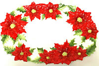 Kaldun & Bogle Christmas Poinsettia Serving Platter