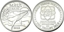 elf Hawaii Maui 2 Dollars 2012 Humpback Whale Flower Sunrise