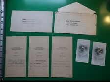 JB664 Vtg 1946 LOT North Side Catholic High School Girls Department Report Cards