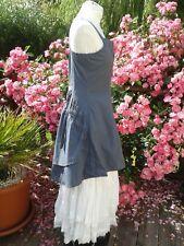Robe - Tunique  asymétrique - mais il est ou le soleil  -  couleur  vert de gris