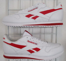 Men's Reebok Classic Leather Sneakers, New White Red Sport Life Walking Shoes 14