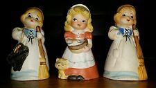 (3)-1978/1979 Jasco Bisque Porcelain Girl Adorabelles