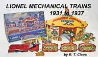 LIONEL MECHANICAL TRAINS 1931-1937 soft cover book