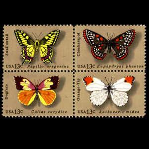 Butterflies Se-tenant Block of 4 mnh stamps 1977 USA #1715a
