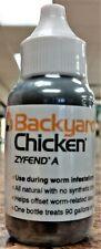 Backyard Chicken Zyfend A Poultry 30 ml Parasite Remedy Treats 90 Gallons