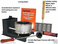 Bullet Casting Kit Furnace Ammunition Lead Melting Pot Smelting Mold Dipper Hunt