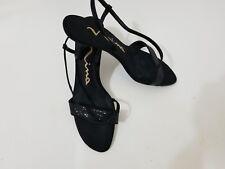 Nina Black Open Toe Evening Dress Pumps Women's Size 7M