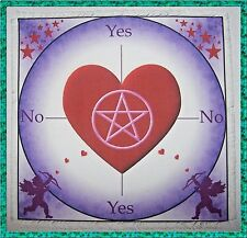 Cupid Scrying/dowsing Mat, ideal for use with a pendulum, Wicca, divination