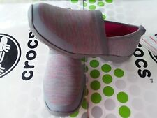 CROC BUSY DAY 2.0 HEATHER A LINE~DUET FLAT LOAFER SLIP ON SHOE~Gray~W 8~NWT